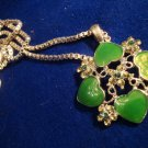 Green Enamel Necklace Edizioni Musei Vaticani Silver Chain Pendant Vintage