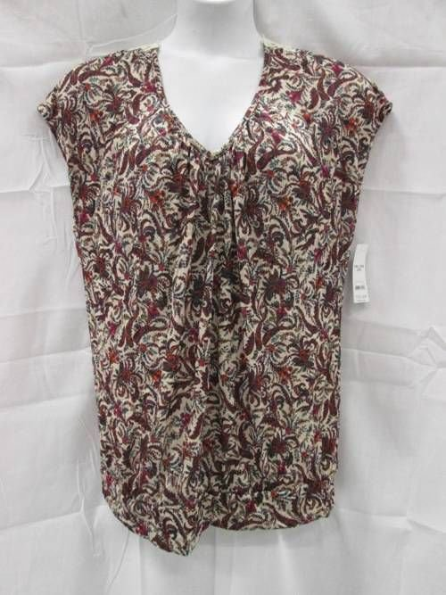 Faded Glory XXL Blouse Top Floral Lace Embellished New NWT