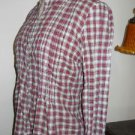 Aeropostale Shirt Petite Small PS Shirt Red White Check Silver Threads New