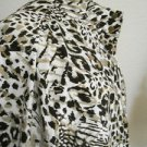 Chico's Jacket Size 3 XL 1X Animal Print Zenergy Zipper Front New 3/4 Sleeves