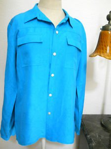 Chico's Size 1 Silk Pant Suit Small to Medium Turquoise Blue Color New With Flaw