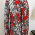 Ungaro Paris Silk Top Size 6 Floral Roses New Button Front Shirt Career Apparel