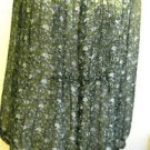 Jaclyn Smith Shirt Size M Green Floral Button Front Flowers New Without Tags