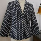 Vince Camuto Blazer Size 10 Black White Geometric Patter Lined Career New No Tag