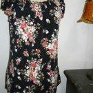 Maxina Luna Size S Black Pink Polyester Tank Cami Cap Sleeves Ruffled Top EUC