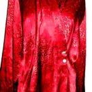 Austin Reed Pure Silk Shirt 12 Burgundy Button Front Super Quality Majestic New