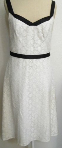Ann Taylor LOFT 4 Ivory Lace Dress Sleeveless Lined New Cocktail Formal Evening