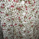 EXPRESS Skirt Size S Burgundy Green White Floral Print Ankle Long A Line Used