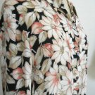 Charter Club Silk Top Size 14 Multi Floral New Button Front Shirt Ruffled Sleeve