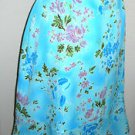 Coldwater Creek Skirt Size L Turquoise Pink Floral Ruffled Hem Below Knee New