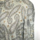 Anthropologie Size S Silk Nylon Angora Sweater Paisley Winter Excellnt Preowned