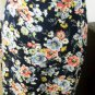 Ralph Lauren Silk Skirt Size 12 Career Navy Pink Floral A Line Ankle Long New
