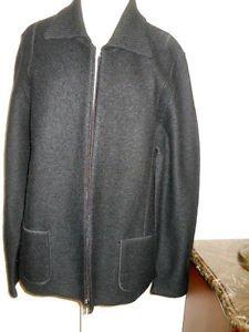 Croft & Barrow Thick Cardigan Sweater Size L Black Wool Zipper Front Jacket New