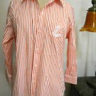 Ralph Lauren Shirt Size PL Orange Striped LRL Logo Embroidery New Without Tags