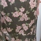 New York & Company Silk Skirt Size 8 Pink Taupe Floral Print Ties New W/O Tags