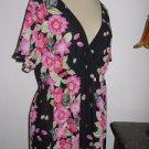 Oscar de la Renta Floral Blouse XL Career Top Floral Black Pink Gorgeous New