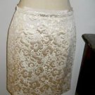 Ann Taylor LOFT Skirt Size 6 Golden Floral Brocade Pencil Below Knee New w Tags