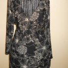Size S Small Blouse Brown Beige Floral Long Sleeve Top Suzie in the City NWOT