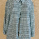 Alfred Dunner 16 Long Sleeves Shirt Holidays Blue Silver Top 3/4 Sleeves New