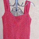 Red White Polka Dots Dress Size S Small Sleeveless Tank Jonathan Martin New NWOT