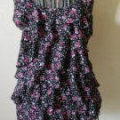 Motherhood Floral RuffleTank Top Size S Small Misses Black Pink Flowers New NWOT