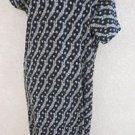 Embroidered Dress 1X Plus Size Career Kurta Wrinkle Free Black Gold New w/o Tags