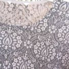 Holiday Sweater Size S Silk Cotton Top Black Taupe Silver Shine Great Preowned