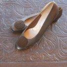 Salvatore Ferragamo Shoes 10 AA Brown Calf Leather 2A Pumps Loafers Narrow EUC