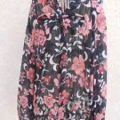 TALBOTS Shirt Size 16 Silk Pink Black White Beige Floral Long Sleeves New NWOT