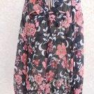 TALBOTS Shirt Size 16 Silk Pink Black White Beige Floral Long Sleeves New NWOT
