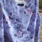 Laura Scott Misses S Small Floral Tank Top Blouse Blue Pink Grey Brown New NWOT