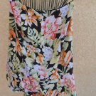 Talbots Size 8 Silk Skirt Floral Tropical Ruffled Orange Black Green New NWOT
