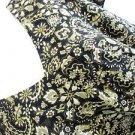 Emma James Dress 22W Black Green Beige Floral Print Cap Sleeves New NWOT