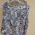 Diana Marco Plus Size 2X Tank Top Career Zebra Stripes Polyester Work New w Tags