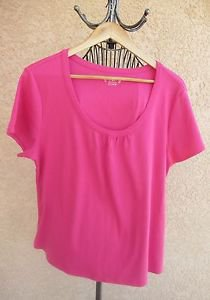 Cato 22W 24W Blouse Pink Top Plus Size Career T Shirt Short Sleeves Stretchy