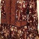 Emma James Woman Size 18W Brown Beige Floral Top Blouse EUC