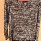 Alfani Sweater XL Black Silver Sequin Embellished Long Sleeves New without Tags