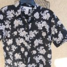 Jones New York Sport L Misses Shirt Floral Short Sleeves Top Excellent Used EUC