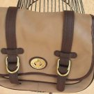 Etienne Aigner Handbag Taupe Brown Purse Genuine Leather Excellent Preowned
