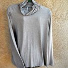 Leo & Nicole 2X Blouse Career Top Smooth Knit Stretchy Heather Beige Long Slvs