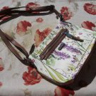 Dana Buchman Handbag Floral Used Faux Leather Small Hobo Purse Silver Hardware