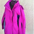 Faded Glory Size 2X Sport Jacket Hooded Coat Pink Gray Waterproof Plus Size New