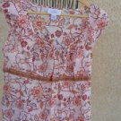 Ann Taylor LOFT Size 12P Petite Sleeveless Cotton Top Pink Orange Excellent Used