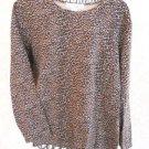 Jones New York 2X Blouse Knit Top Animal Print Long Sleeves Top Good Used GUC