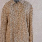 Jones New York Petite 12 Silk Shirt Cinnamon Tan Long Sleeves Used Excellent EUC