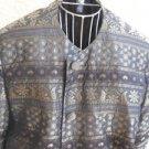 Salvatore Ferragamo Blazer XL Regular Olive Black Gold Metallic Long Sleeves EUC