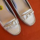 Lauren Ralph Lauren Moccasins 9 B Shoes Gold Color Genuine Leather Driving EUC