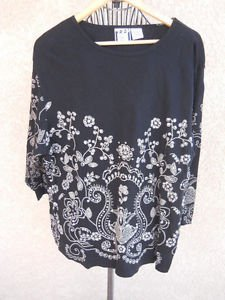 Pullover Sweater 2X Beads Embellished Embroidered Floral Sequins Take Two NWOT