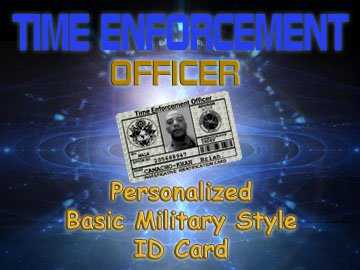 """Personalized """"Time Enforcement"""" Basic Green Military Style Card"""