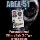 AREA-51 Novelty Personalized Military CAC ID Card